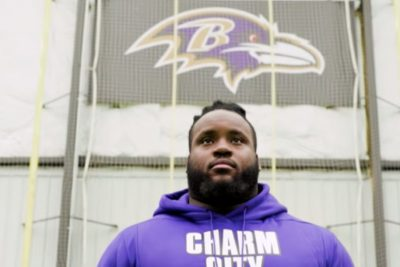 Baltimore Ravens Lineman to Wear Israeli Flag on His Cleats