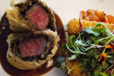 Lamb Wellington with Red Wine Demi-Glace