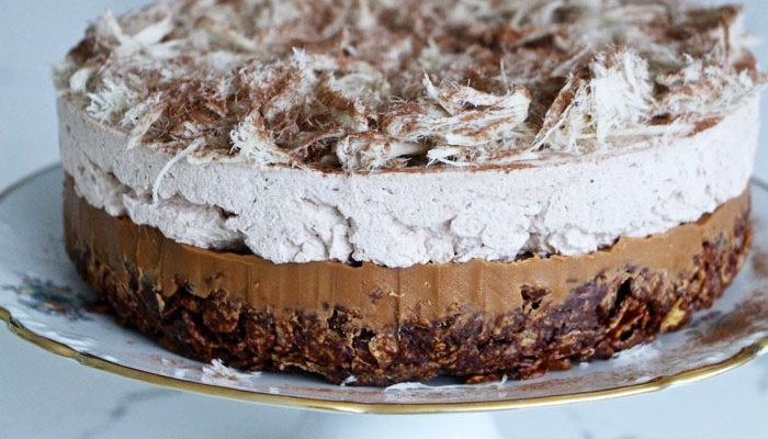 No-Bake Chocolate Halvah Layer Cake
