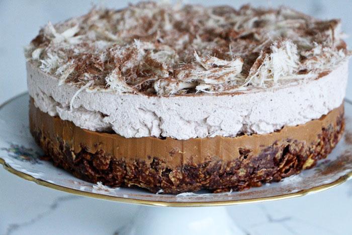 No-Bake Chocolate Halvah Layer Cake