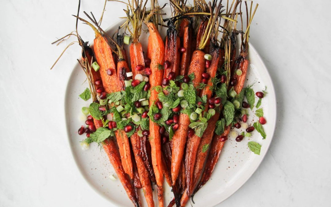 Pomegranate Roasted Carrots with Sumac