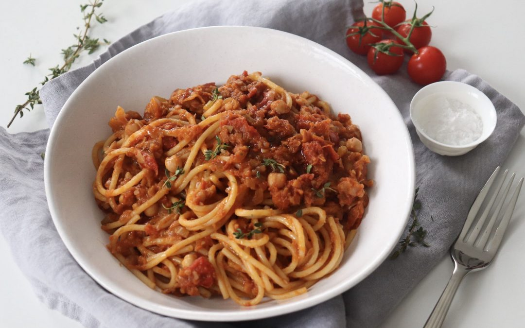 Chickpea Bolognese is a Hearty Meat-Free Dinner You will Love