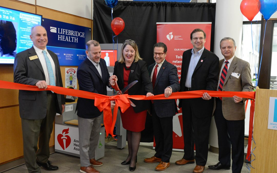 Blood Pressure Kiosk Dedicated at Owings Mills JCC