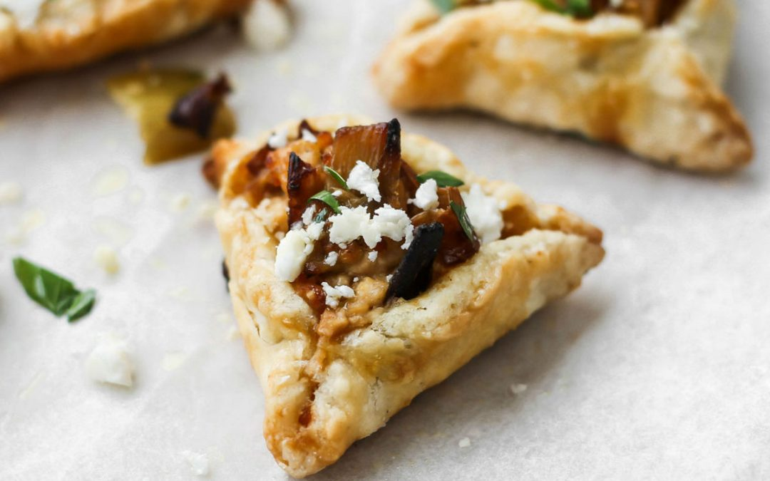 Leek and Feta Hamantaschen
