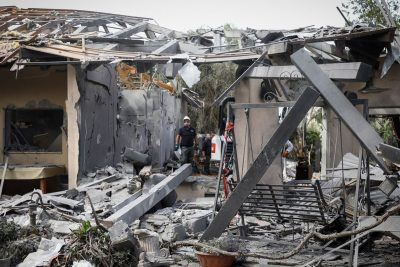 Rocket Fired from Gaza Slams into Home in Central Israel, Injuring 7