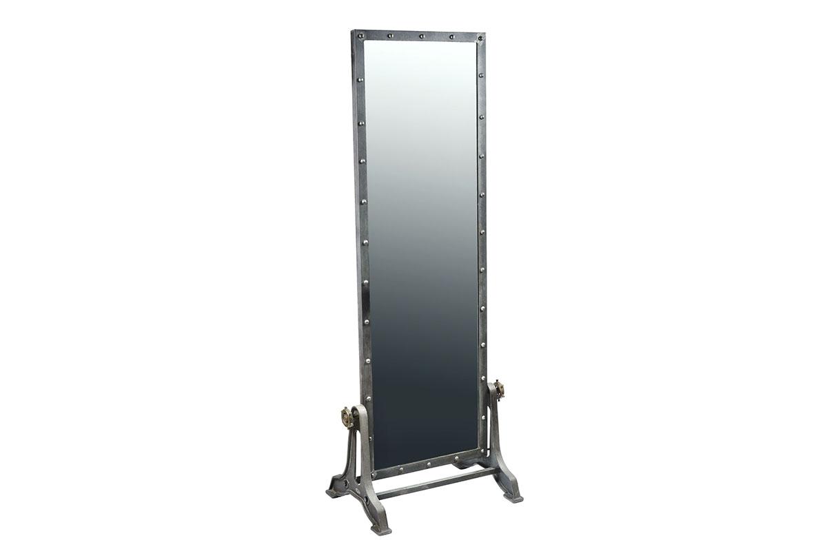 Industrial floor mirror