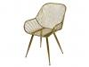Antique gold metal chair
