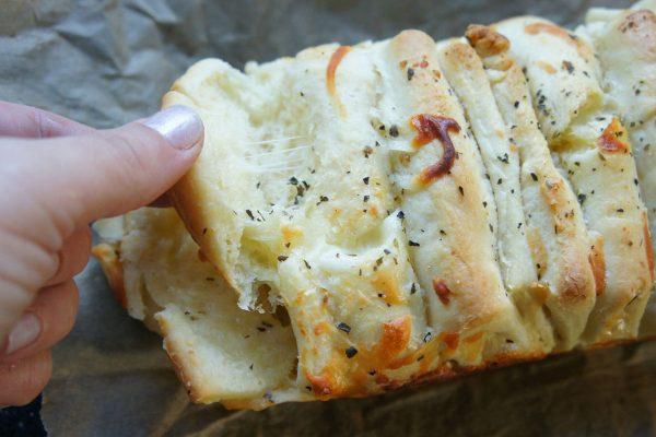Cheesy pull-apart garlic bread babka