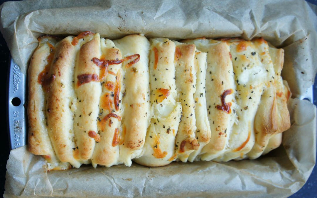Cheesy Pull-Apart Garlic Bread Babka