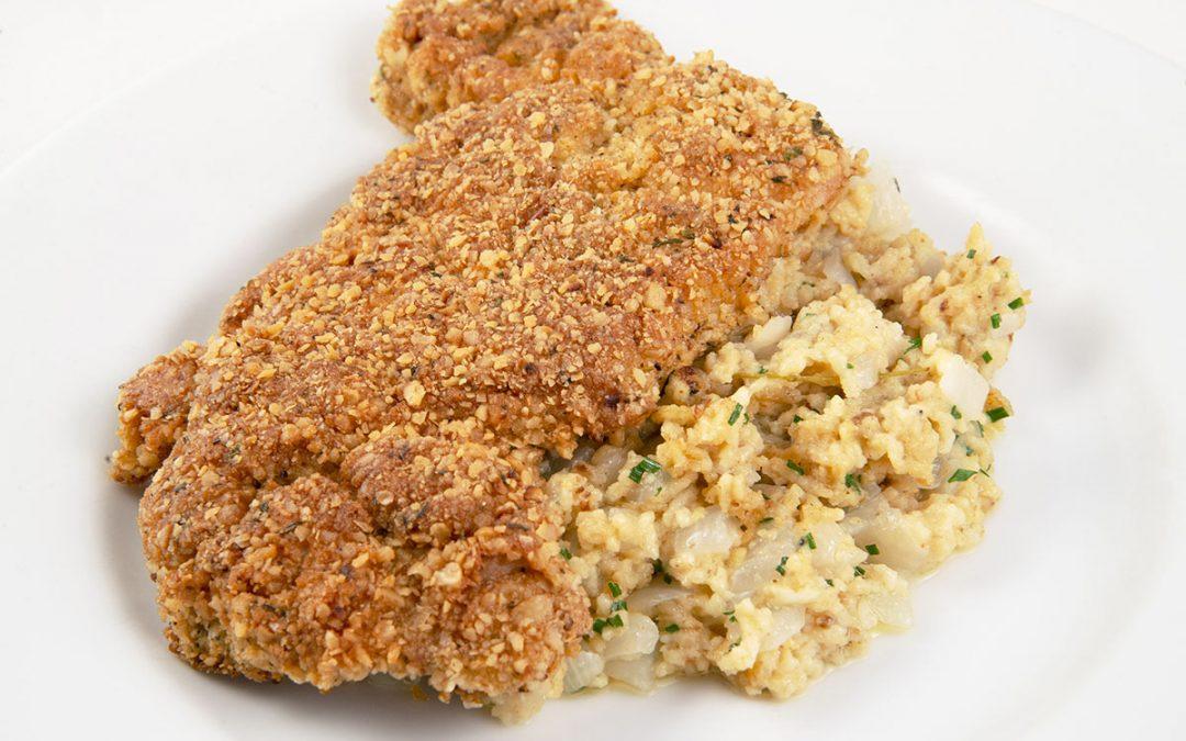 Chicken Schnitzel with Matzoh Spaetzle