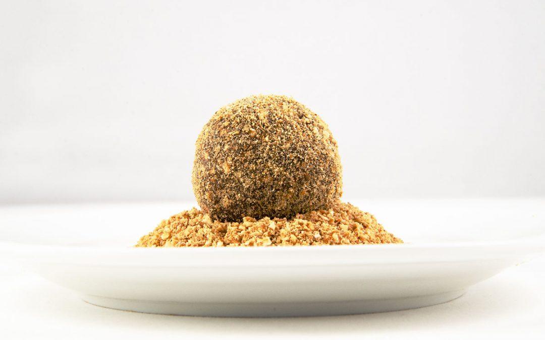 Chocolate Ganache Truffles Rolled in Toasted Matzoh