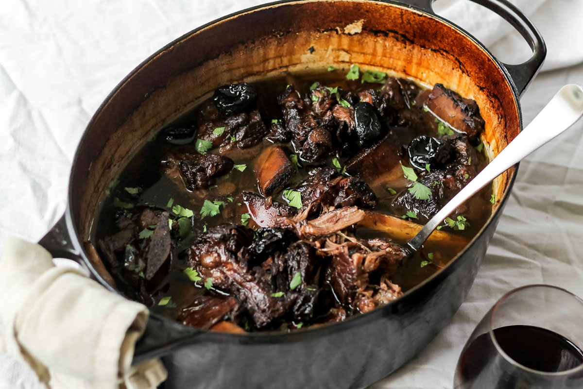 Red Wine Braised Short Ribs with Prune