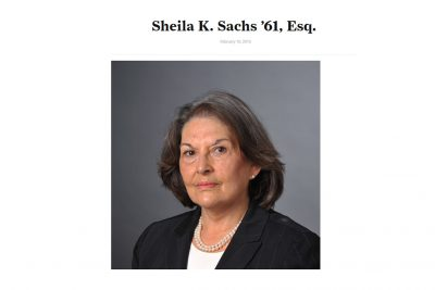 Sheila Sachs was a Role Model for Generations of Women