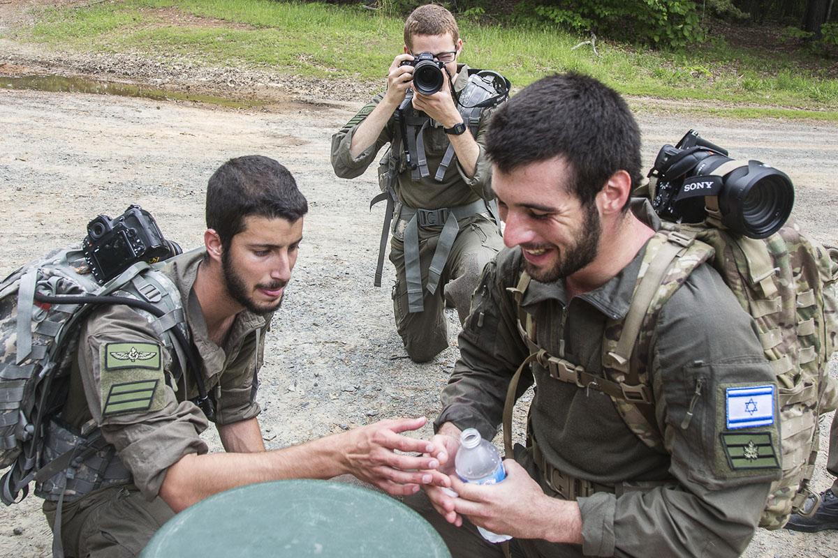 Staff Sgt. Pinus Yoav and Sgt. Bitan Nir