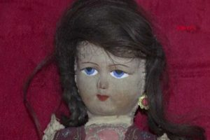 Doll with human hair