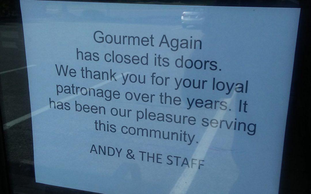 Gourmet Again Closes its Doors