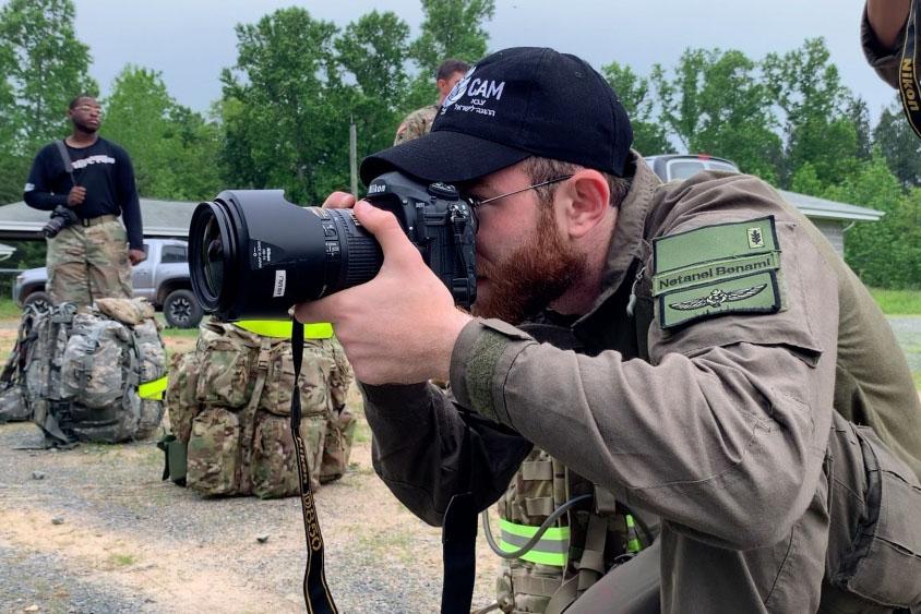1st Lt. Netanel Ben-Ami takes a photo