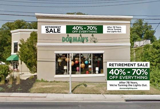 Dorman's Lighting Closes After Nearly 80 Years in Business