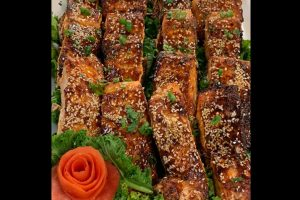 Pan-seared sesame salmon