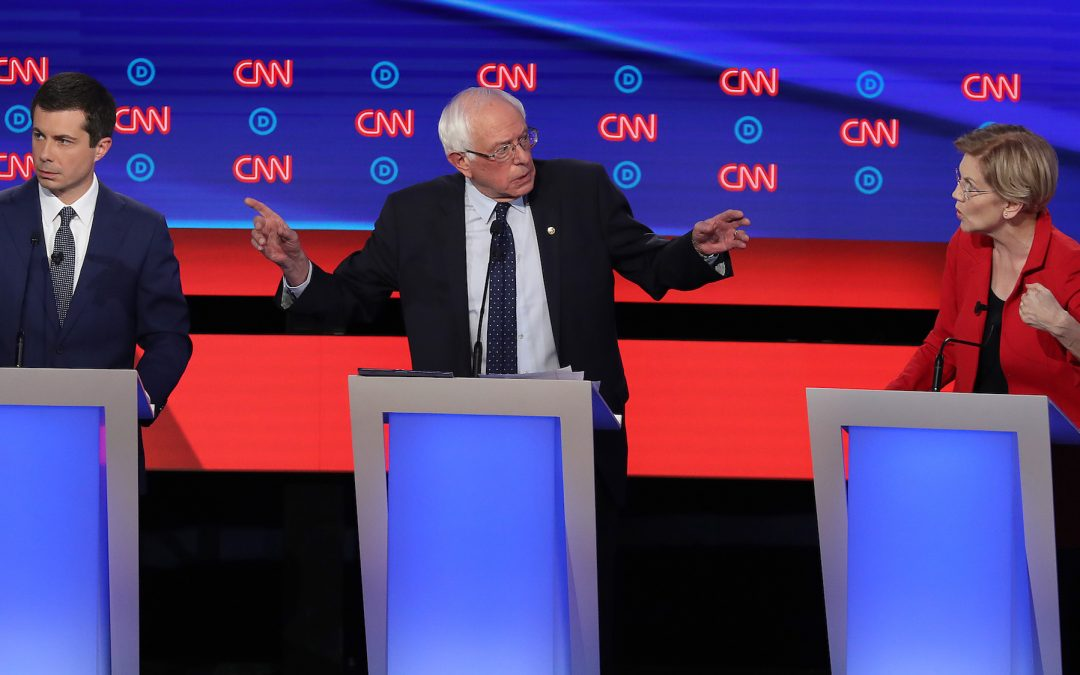 Democrats Condemn Trump on Race in Debate Focusing on Liberal-Moderate Divide