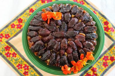 Persian Upside-Down Cake with Dates and Cardamom