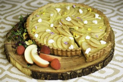 Apple Honey Goat Cheese Tart