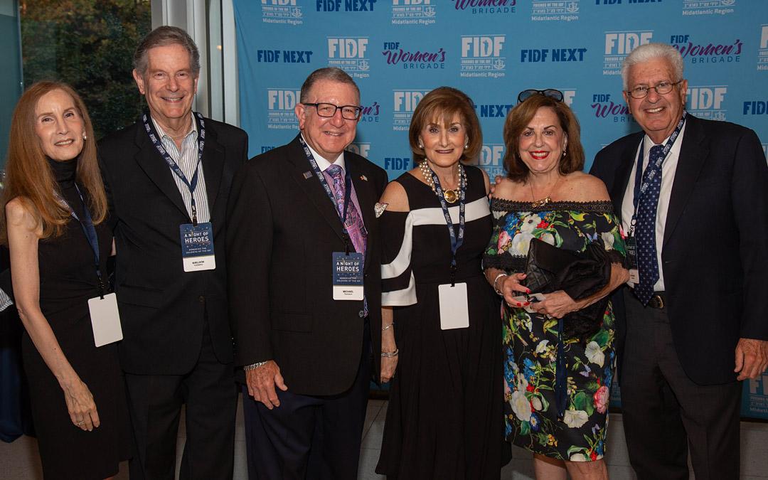 Shelley and Sheldon Goldseker, Michael and Tsipi Renbaum, and Leonard and AnnSue Grossman. (Photo by Shlomo Cohen)