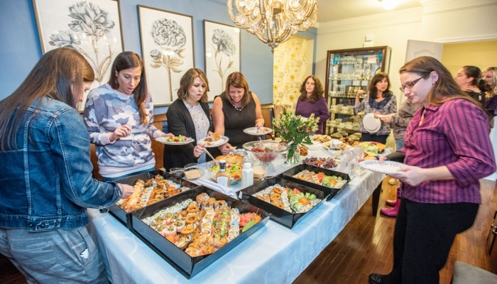More than 40 adults and young children came together Oct. 16 for a celebration of Sukkot organized by the J-WoHoCo (Jewish Women of Howard County) group and Baltimore's Etz Chaim Center. (Photo by Ed Bunyan)
