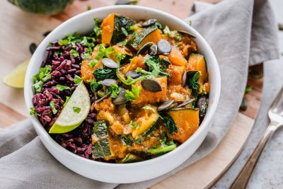 30-Minute Kabocha Pumpkin Curry With Spinach
