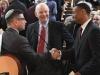 Rabbi Daniel Cotzin Burg of Beth Am, Sen. Benjamin L. Cardin and Baltimore City Councilman Leon F. Pinkett III