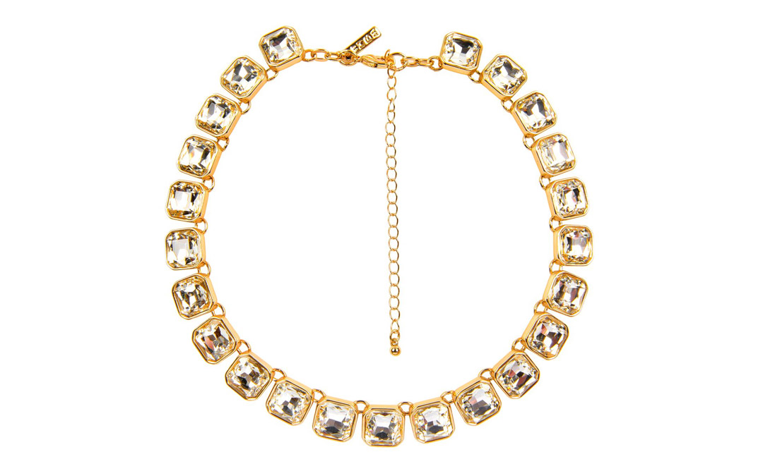 An elegant necklace like this one is sure to turn heads at this year's holiday party. $37.50 at White House Black Market