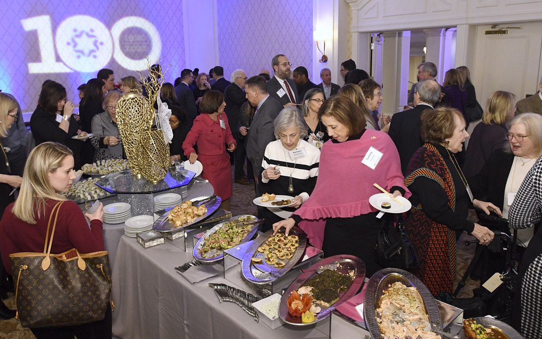 Guests mingle during The Associated's Centennial Campaign kickoff. (Photo by Steve Ruark)