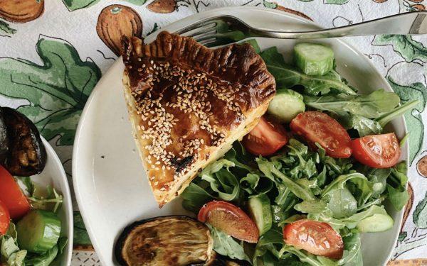 zucchini, potato and Manchego pashtida