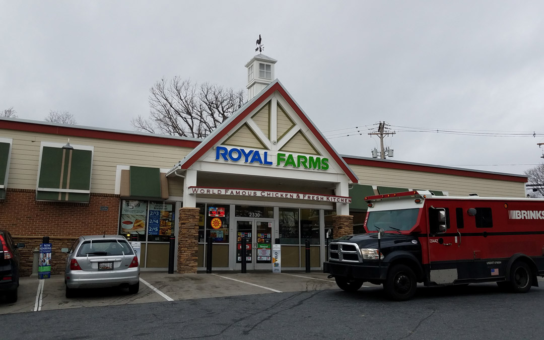 Royal Farms reportedly plans to install a gas station at its convenience store at the corner of Smith Avenue and Old Pimlico Road