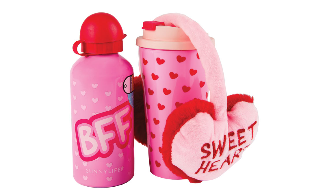 Show a friend just how much you care by thinking about them this Valentine's Day. Kids Flask BFF from Becket Hitch; SunnyLife, $16. Keep Warm Mug Set BFF from Becket Hitch; SunnyLife, $36.