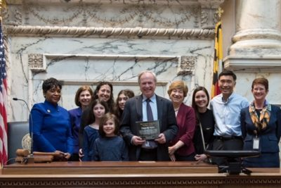 Del. Dana Stein Receives Award for his Years of Service in the House of Delegates