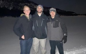 Matthew and Michael Eisenberg, who were spending their semesters abroad, were forced to return to Baltimore due to the coronavirus pandemic. From left: Kraz Greinetz, Matthew Eisenberg and Michael Eisenberg.