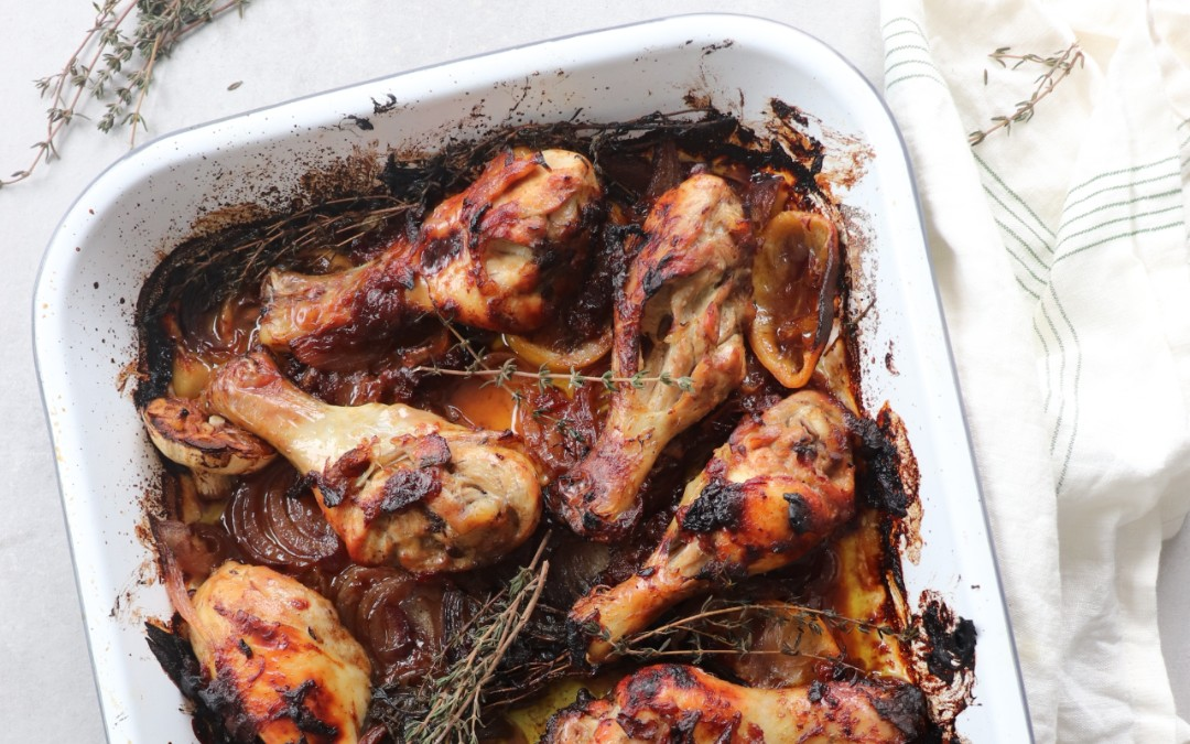 What to do with leftover haroset? Try this chicken with thyme recipe.