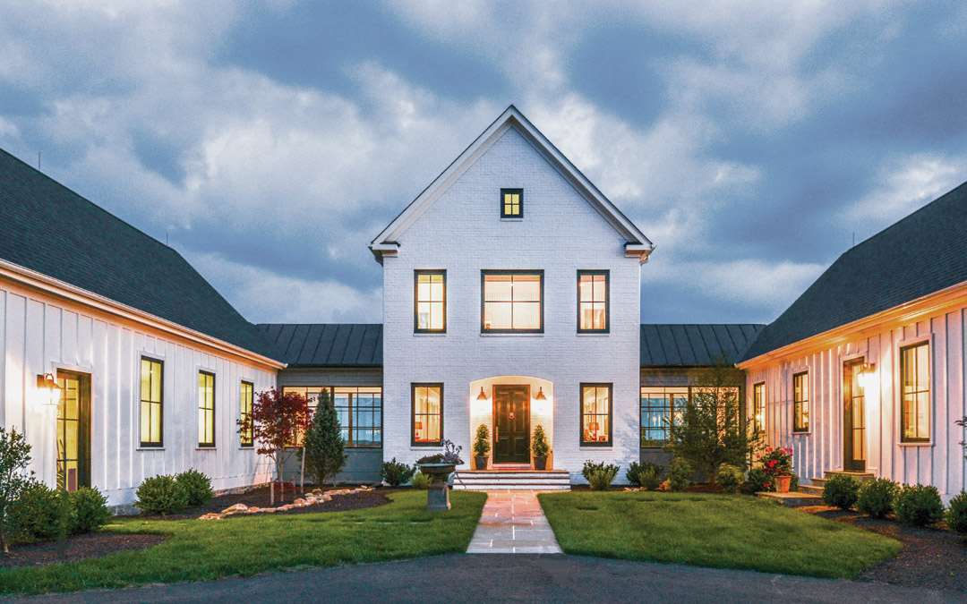 """The Sheckells' 4,200 square- foot home is Pavilion-style or """"an abstraction of a Maryland Colonial,"""" says architect Marta Hansen."""