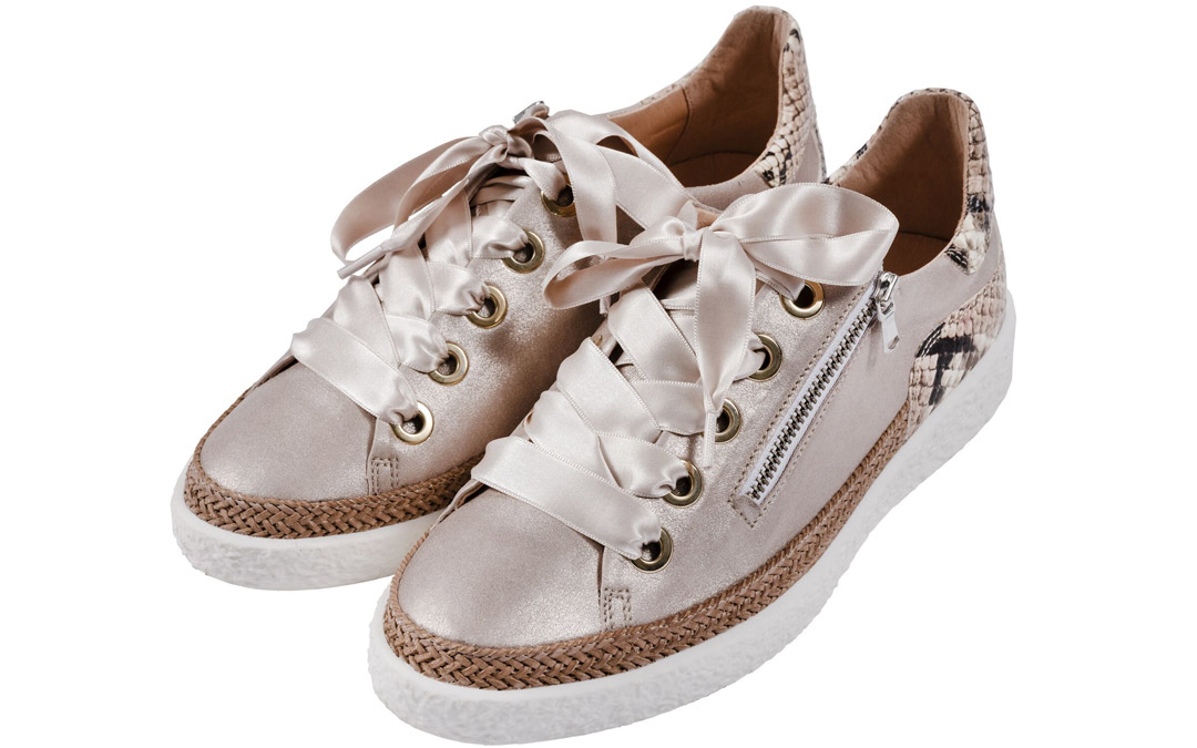 Step into spring with these shiny kicks. Softwaves sneakers from Matava Shoes, $225 (Photo by Vince Lupo)