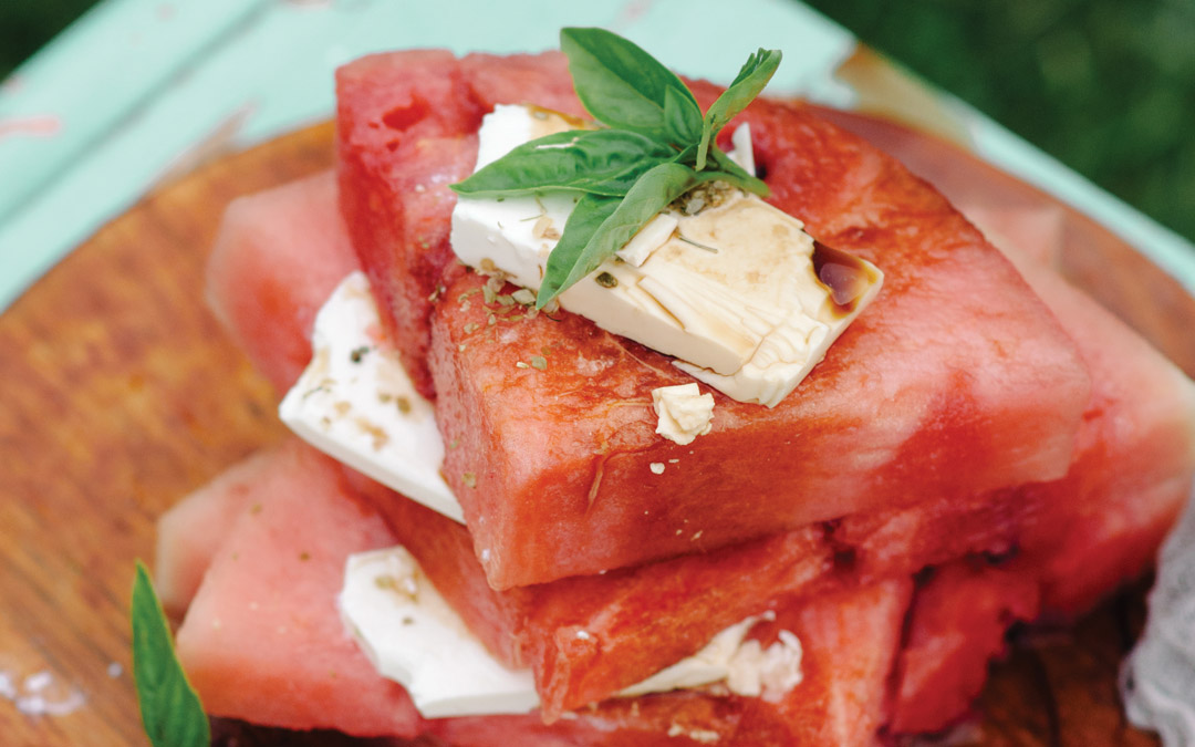 Watermelon Feta Tower