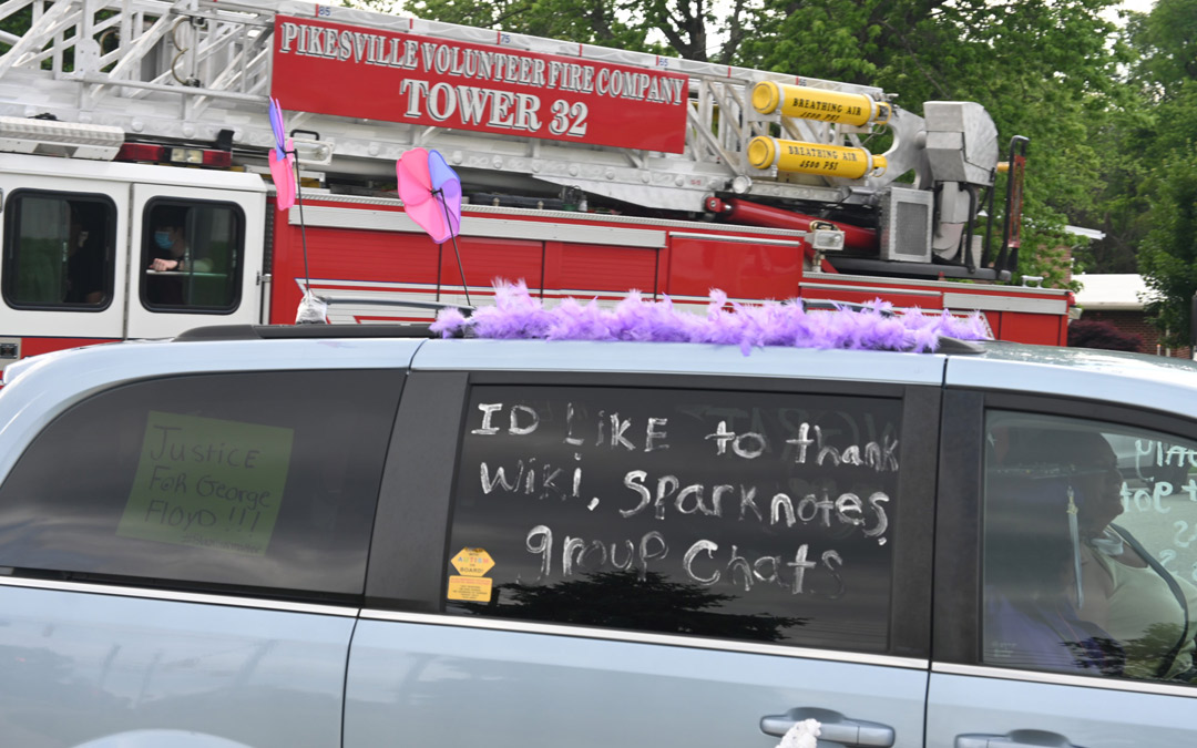 One Pikesville graduate offers a humorous take on his achievement. (Photo by Michael Schwartzberg/PVFC)