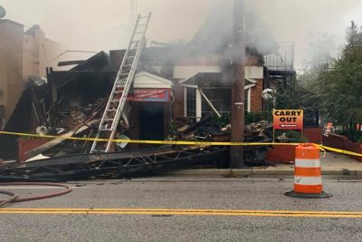 Jilly's Bar & Grill in Pikesville Collapses in Three-Alarm Blaze
