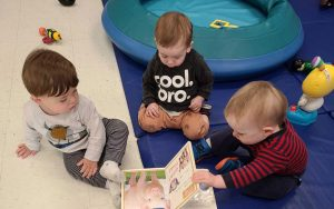 Infants class getting a head start on their reading.