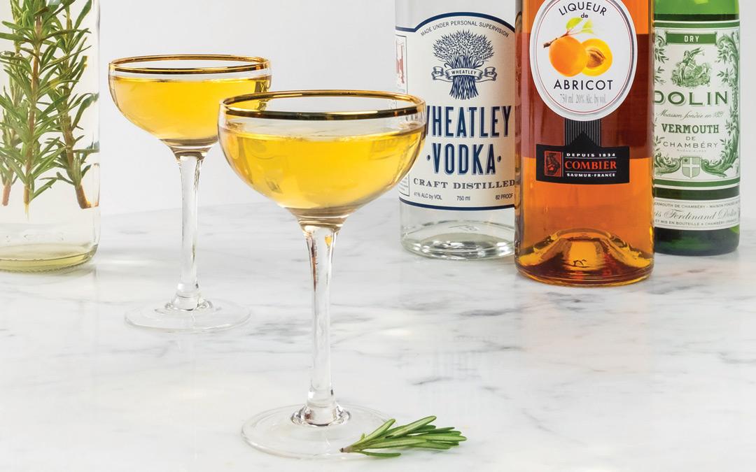 Rosemary Apricot Martini