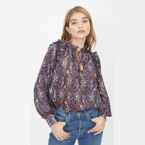 Theo Viola Lurex Blouse from A Style Studio