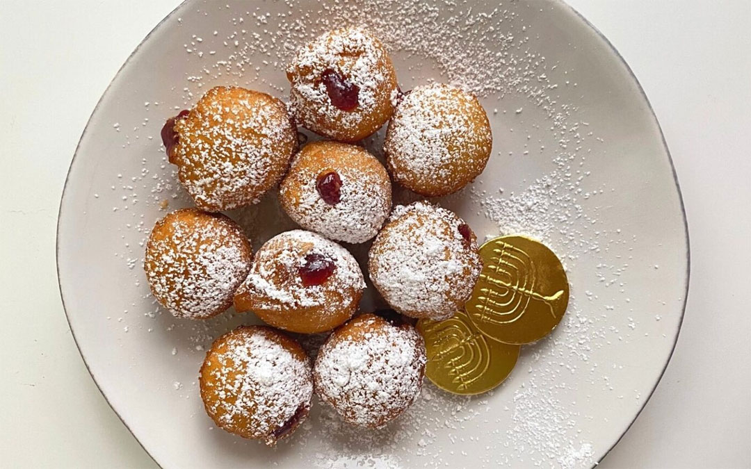 mini jelly doughnuts